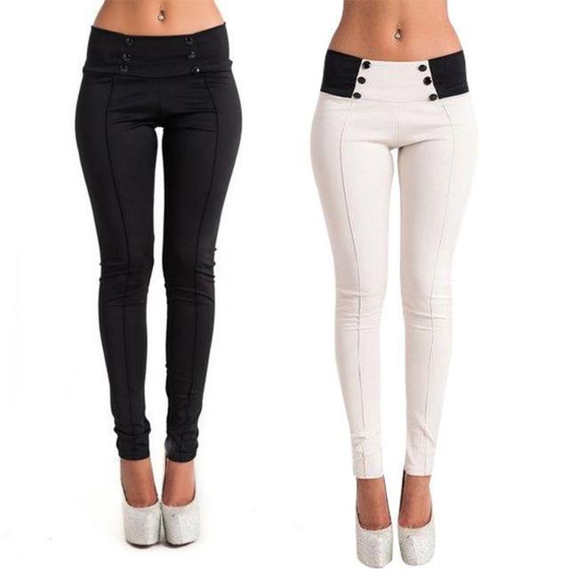 2016 Nova Moda Mulheres Sexy Casual Estiramento Skinny Leggings Calças Lápis Calças Slim