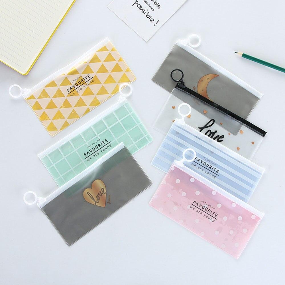 Creative Envelope Chicken Receive Bag Translucent Pencil Bags File Holder