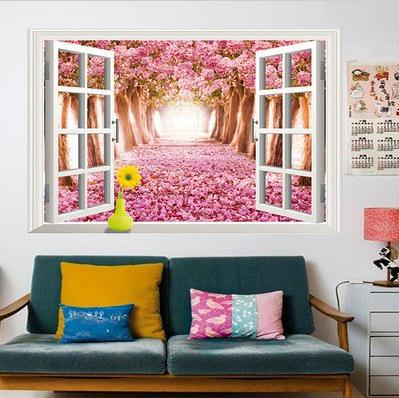 2x Large Removable Beach Sea 3D Window Decal WALL STICKER Home Decor ...