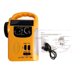 Image 5 - Outdoor Emergency Hand Crank Solar Dynamo AM/FM Radios Power Bank with LED Lamp