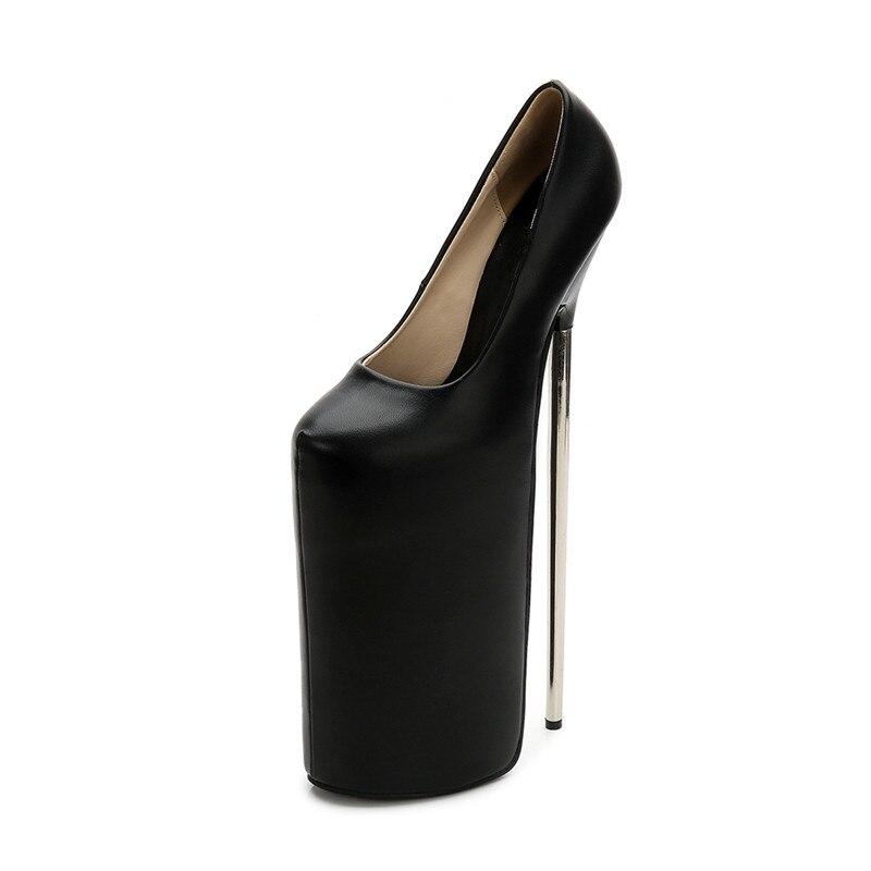Talons Plates Défilés Stylet b0053 Hauts 30 Rond 20 À formes Cm Bout Femmes Ms Pompes 2 Métal Femme Discothèque 1 Chaussures Mince H8z78rZ