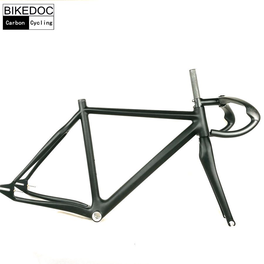 BIKEDOC 2018 Carbon Fixed Gear Frame 700C Carbon Frames 1 1/8\'\'1 1/2 ...