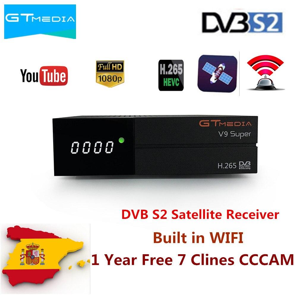 GTmedia V9 Super Receptor de Satélite mais do que V8 NOVA DVB-S2 Decodificador de Satélite Construído em WIFI com 1 Ano 7 linhas europeu CCcam