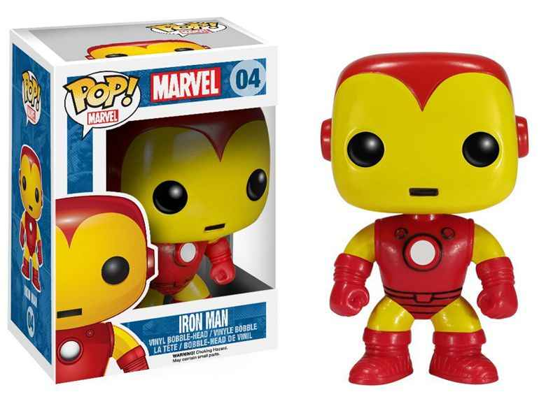 Funko pop Marvel originale: Iron Man Classic Vinyl Action Figure Da Collezione Model Toy con Scatola Originale