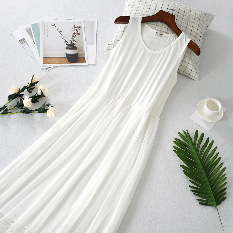 2019 new women one slips hot black white full slips lady intimates perspective lace dress