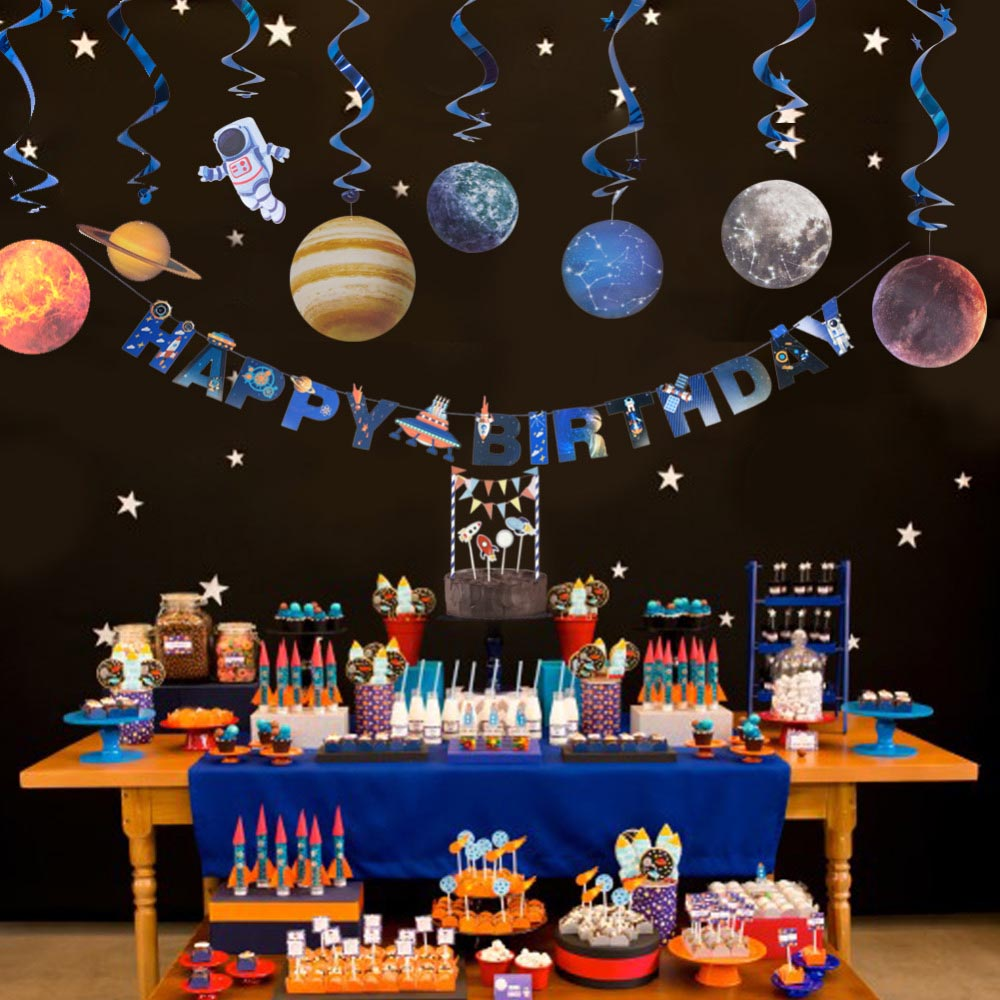 Outer space theme party decoration solar system star for Outer space decor