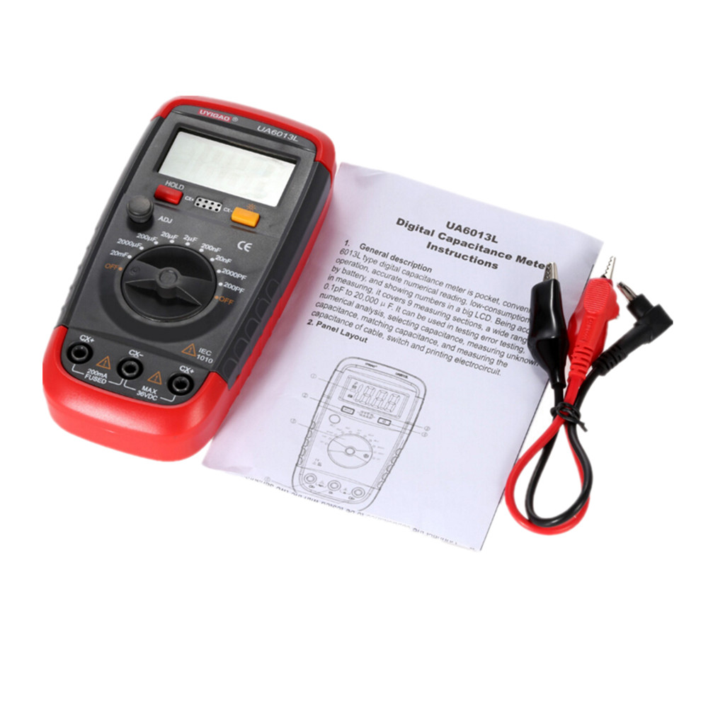 Professional Capacitance Meter Ua6013l Auto Range Digital Lcd How To Test Car Fuse Box With Multimeter Capacitor Measurement Tester In Multimeters Analyzers From Automobiles