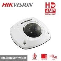 HIKVISION CCTV IP камера DS 2CD2542FWD IS 4MP Мини купольная камера Встроенный слот для sd карты Крытый/Открытый PoE IP камера