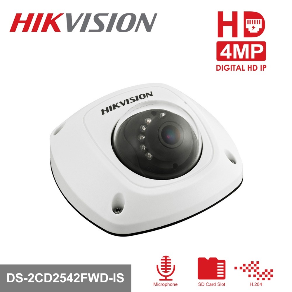 HIKVISION CCTV IP Camera DS-2CD2542FWD-IS 4MP Mini Dome Camera Built-in SD Card Slot Indoor/Outdoor PoE IP Camera цена