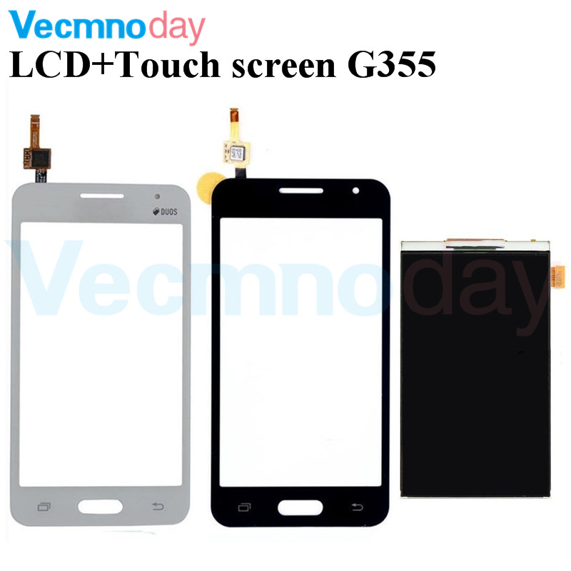 Vecmnoday Original For Samsung DUOS Core 2 SM-<font><b>G355H</b></font> G355M <font><b>G355H</b></font> G355 LCD <font><b>Display</b></font> + Digitizer Touch Screen Replacement Parts image