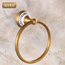XOXO качество настенное крепление кольцо для полотенец/держатель для полотенец, твердая конструкция из латуни, Античная бронзовая отделка, аксессуары для ванной комнаты 11080BT