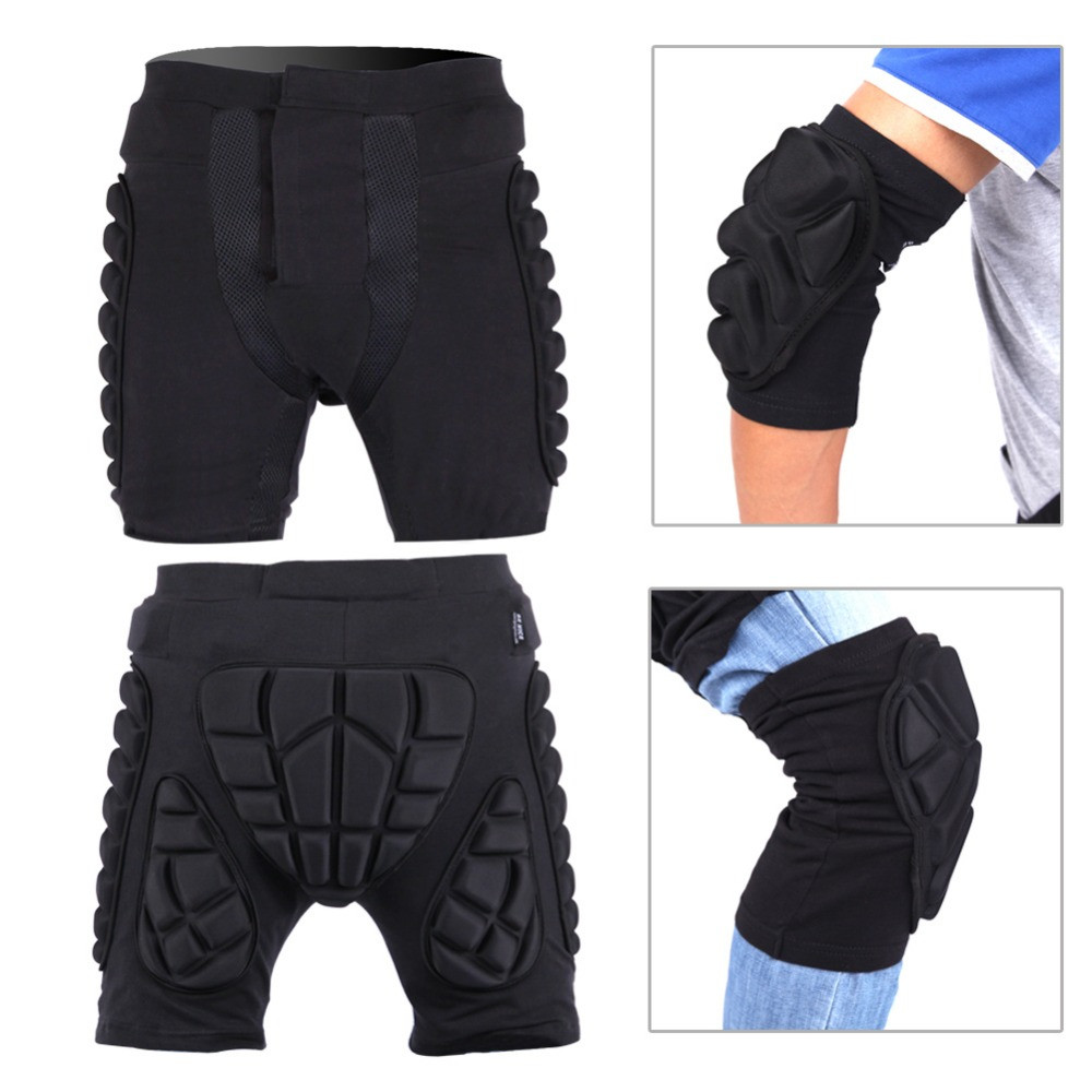 be nice brand black short protective hip butt pad ski. Black Bedroom Furniture Sets. Home Design Ideas