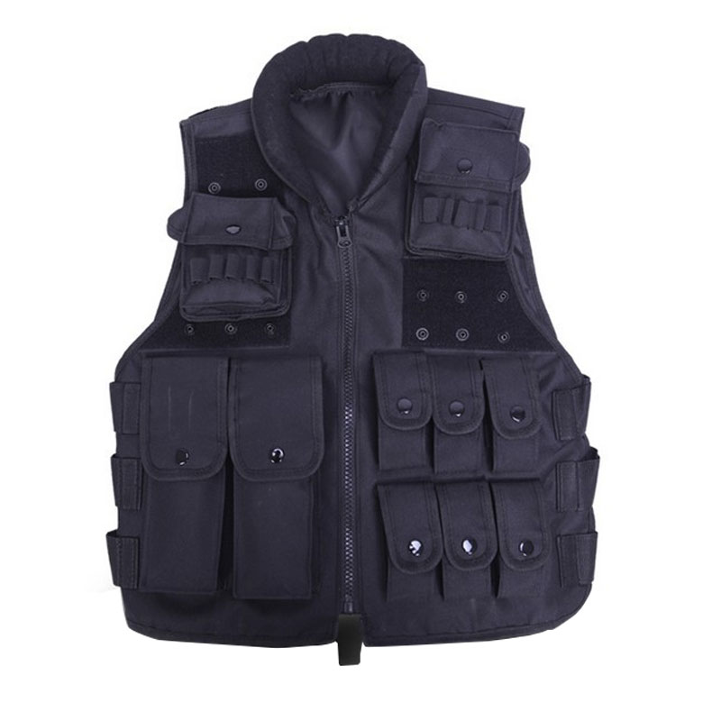 ФОТО Tactical Vest Cool Mens Hunting Vest Outdoor Training Military Army Swat Vests Men Waistcoat Protective Magazine Pouch Black