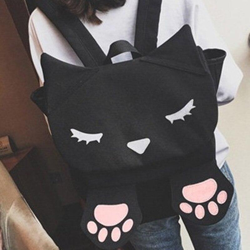 Cat Backpack for Teenagers Girls School Bags Cute Cartoon Backpacks Harajuku Ulzzang Backpack Sac A Dos