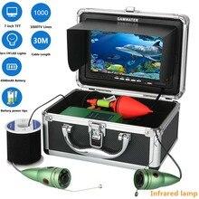 GAMWATER Подводная охота комплект видеокамер 1000tvl 6 W ИК-светодиодный Белый светодиодный с 7 дюймов цветной монитор 10 м 15 м 20 м 30 м