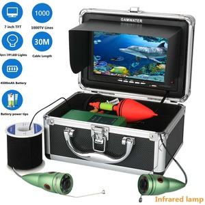 GAMWATER Underwater Fishing Video Camera Kit 1000tvl 6W IR LED White LED with 7Inch Color Monitor 10M 15M 20M 30M(China)