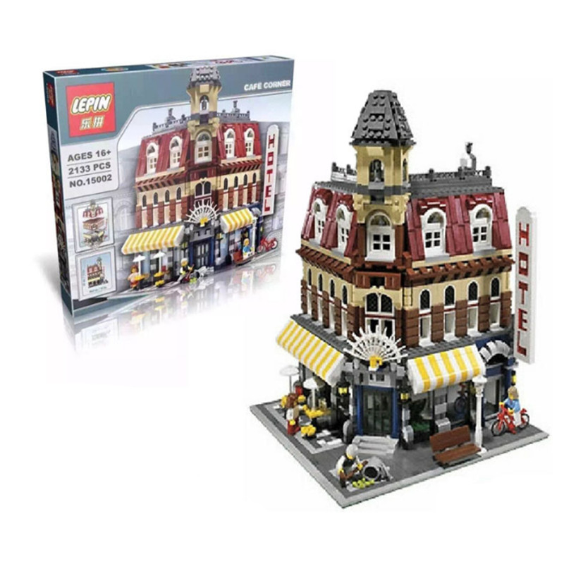 2476Pcs font b Lepin b font 15002 City Street Creator setsBuilding Kit Minifigure Blocks Bricks Compatible