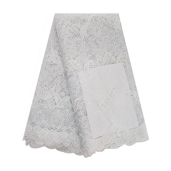 White French Net Lace Fabric 2019 Latest African Lace Fabric With Embroidery Mesh Tulle Lace Fabric High quality Nigerian Lace