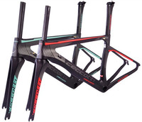 Ceccotti C13 2 red Toray T1100 bicycle frame PF30/BSA/BB30 Di2 and Mechanical Both chinese carbon frames road carbon frame
