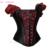 MOONIGHT Mujeres Negro Ramillete Rojo Corto Puños Ropa Steampunk Overbust Corset de cintura de Corsés Fajas Body