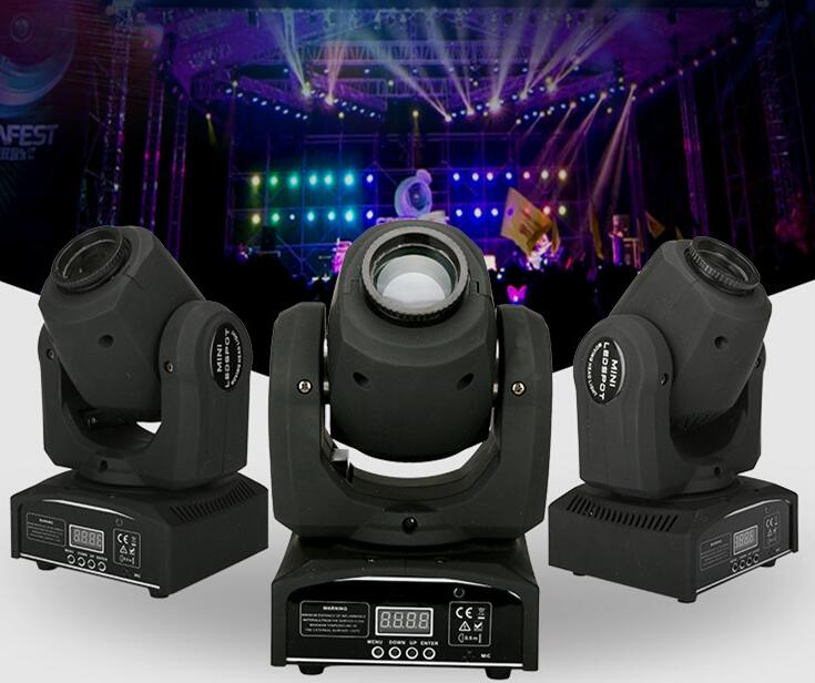 Rasha Factory Price 30W Mini LED Moving Head Spot Gobo Light With 9/11CH For Stage Event Party 90-240V DMX Stage Moving Light цена