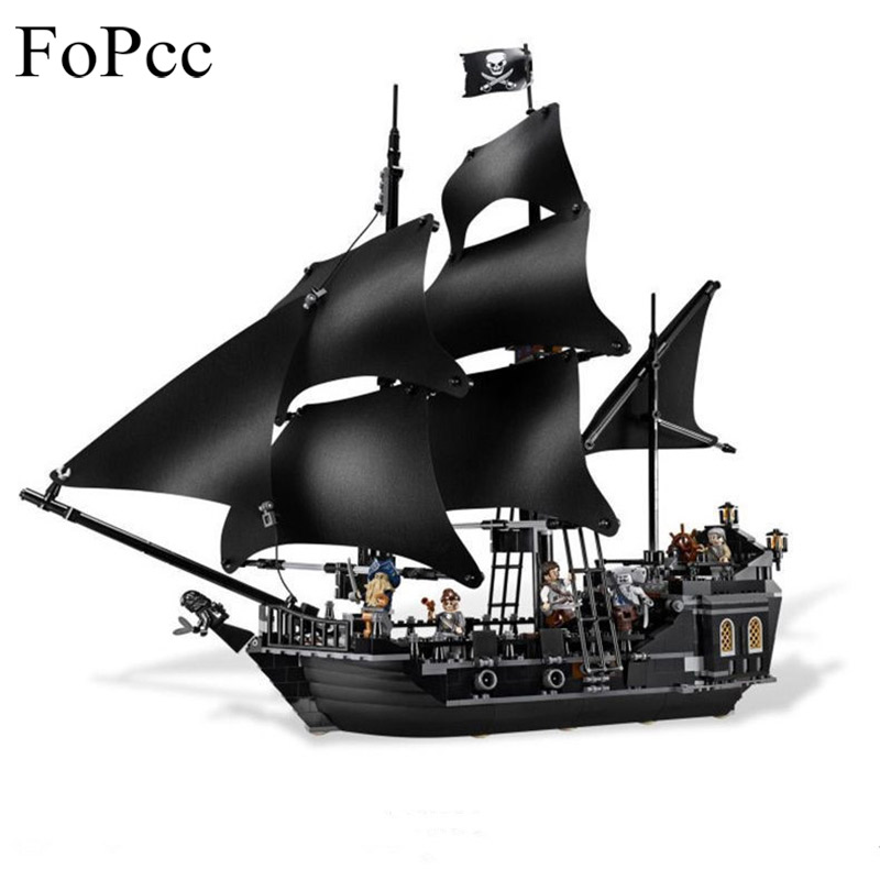 New 804PCs Pirates of The Caribbean The Black Pearl Building Blocks Educational Toy For Children Toys Gifts Legoings kazi 608pcs pirates armada flagship building blocks brinquedos caribbean warship sets the black pearl compatible with bricks