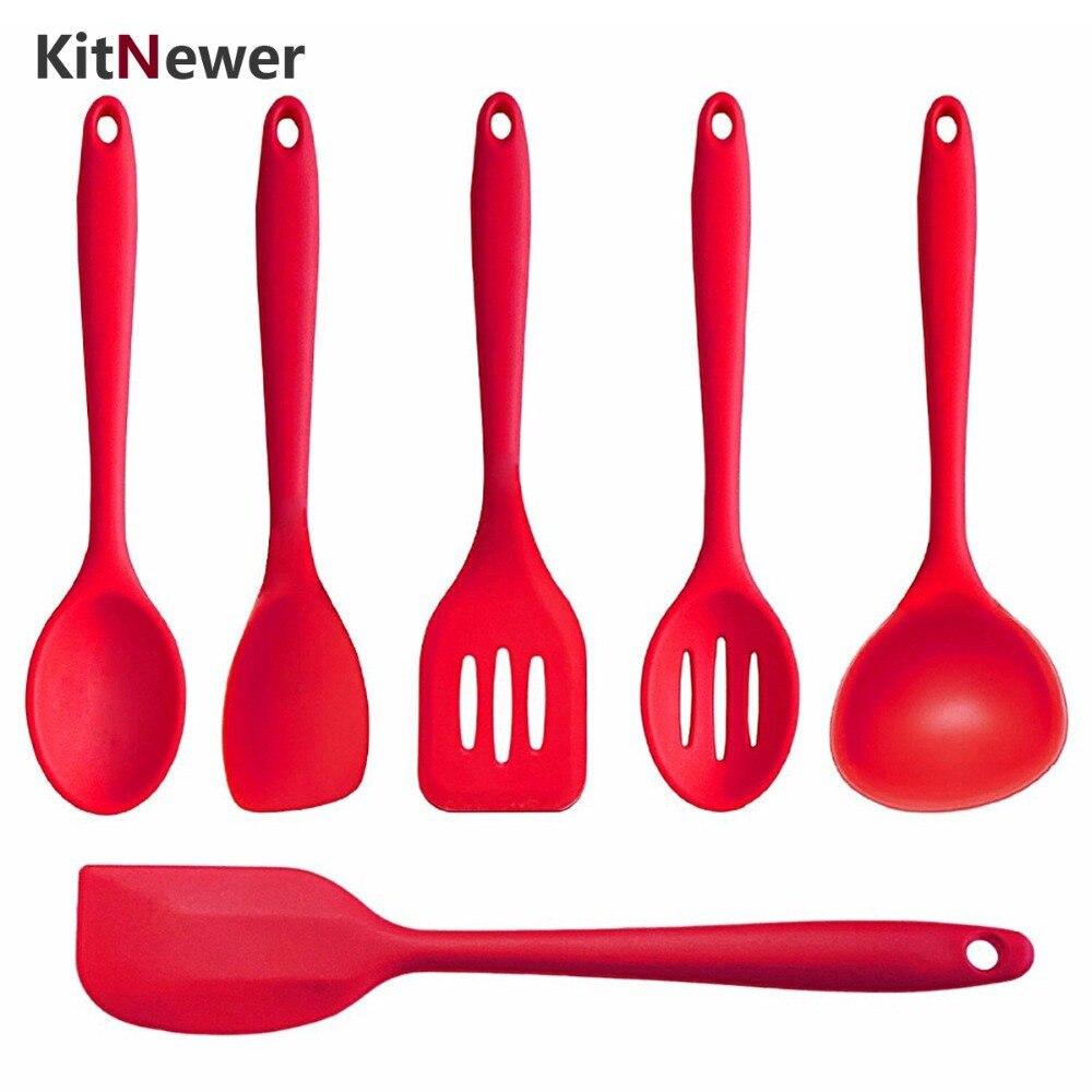 KITNEWER 7ks Spatula Turner Spoonula Mixing Spoon Spoon Spoon Spoon - Kuchyně, jídelna a bar