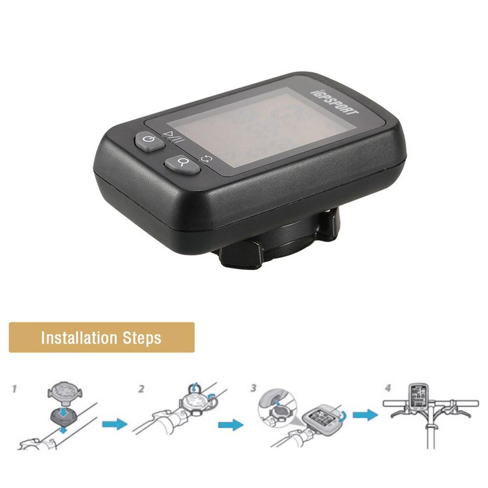 IGPSPORT iGS20E inteligente impermeable IPX6 GPS computador camino de MTB bicicleta deporte velocímetro cuentakilómetros titular + regalo gratis - 4