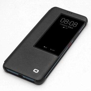 Image 4 - QIALINO יוקרה אמיתי עור Flip Case עבור Huawei Mate 20 אופנתי בעבודת יד Ultra Slim כיסוי עם תצוגה חכמה עבור Mate 20 פרו