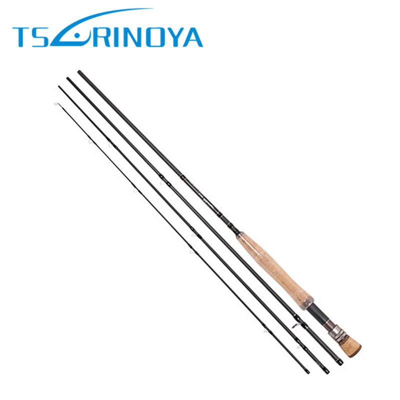 Tsulinoya New Fly Fishing Rod 2.7m Carbon 4Section With Rod Tube Vara De Pesca Fish Pole Canne a Peche Carpe Fishing Rod Pesca new baitcsting fishing rods carbon m ml mh1 8m 2 1m 2 4m varas de pesca fishing pole for carp fish peche