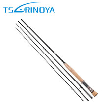 Tsulinoya New Fly Fishing Rod 2.7m Carbon 4Section With Rod Tube Vara De Pesca Fish Pole Canne a Peche Carpe Fishing Rod Pesca