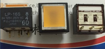 [VK]JAPAN LP-16S light touch switch 15*15mm square reset button with light yellow 5 pin 3A 125V 250VAC LP1S-16S-808-Z