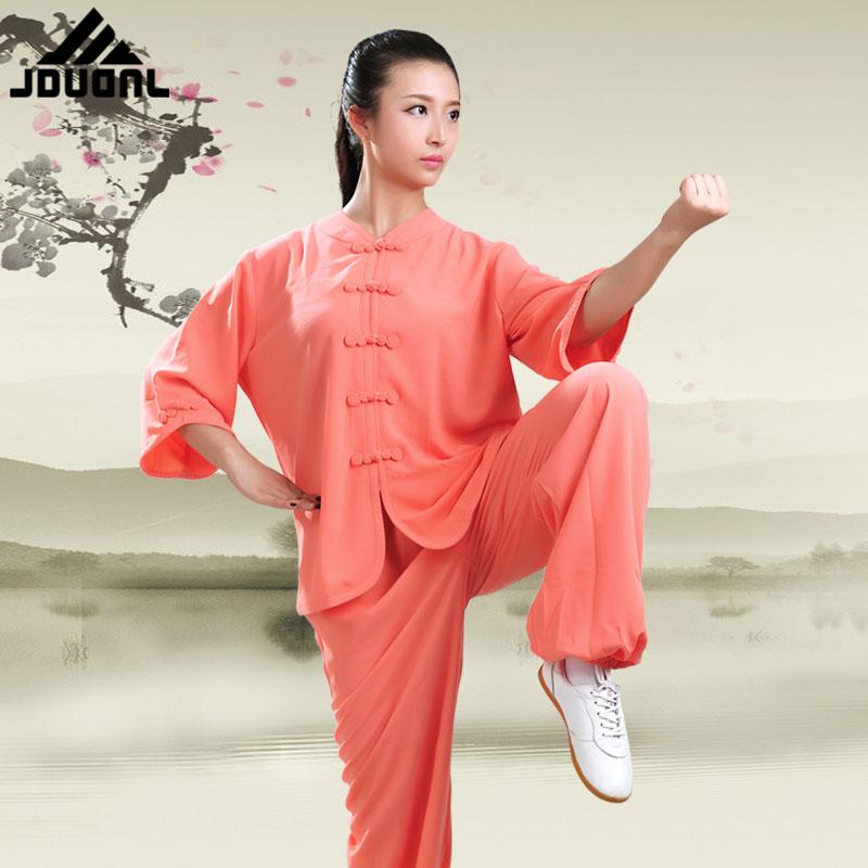 JDUanL Spring Fall Summer China Tai Chi Uniform for Women Kids,Adults Kung Fu Qigong Outfits Clothing Tops+Pants 2018 DCO цена 2017