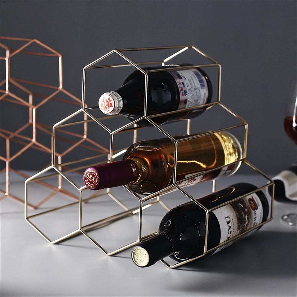 Wood Wine Rack Decoration Living Room 6 Bottle Decorative Tabletop
