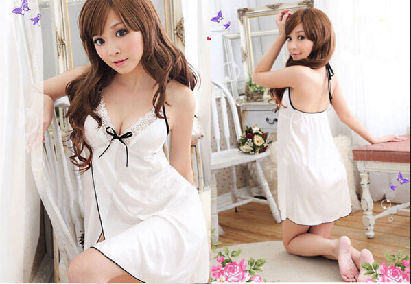 Women's Lingerie Lace Dress Intimate Babydoll White Sleepwear G-string New Arrive For Women