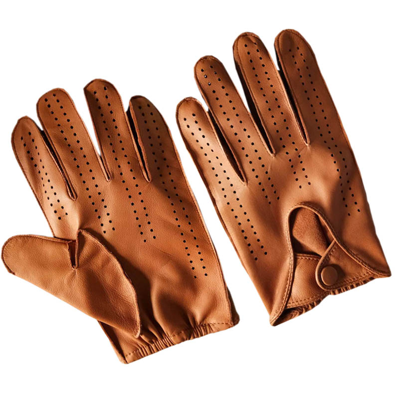New Arrival Luxury Men Genuine Leather Gloves 100% Deerskin Gloves Fashion Men  Breathable Driving Gloves For Male Mittens