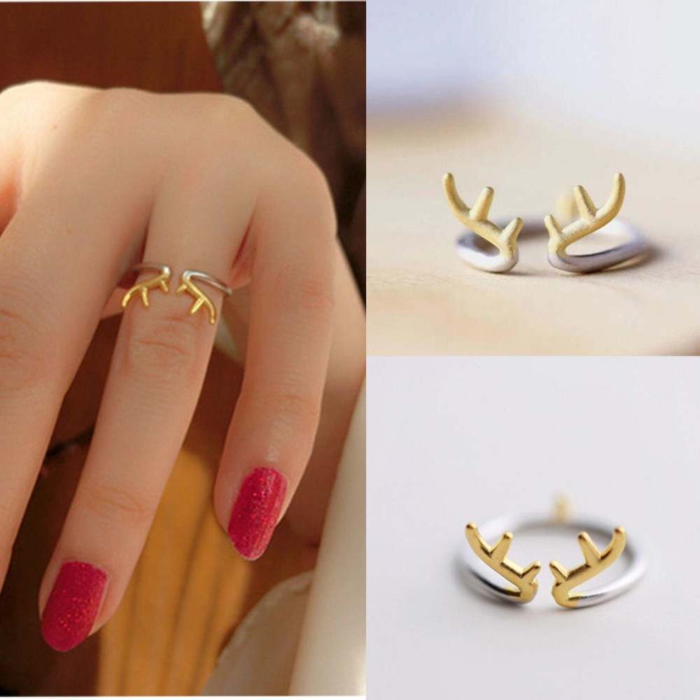 Fashion Horn Open Adjustable Mid Ring Toe Ring Jewelry reindeer ring ...