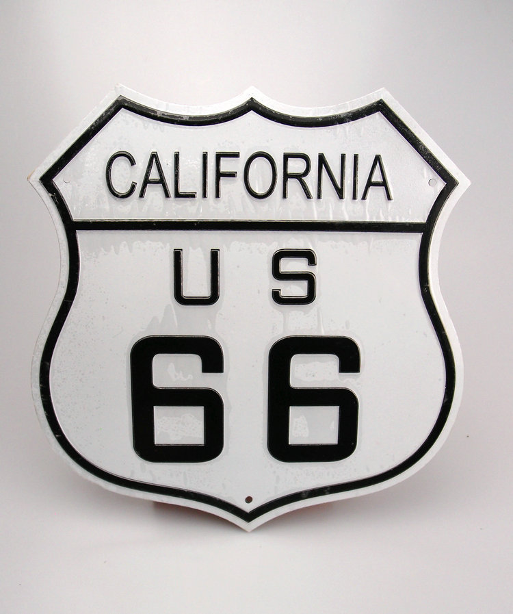 10Inch U.S. ROUTE 66 Wall Decoration Vintage Metal License Plate Art Bar Home Restaurant Decor Metal Tin Signs J&Y Art JY-002