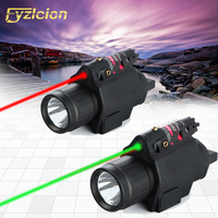 Hunting accessories 2 In 1 Red / Green Laser Sight Remote Switch +m6 Tactical LED Flashlight Fit 20mm Picatinny Rail Gun Gl