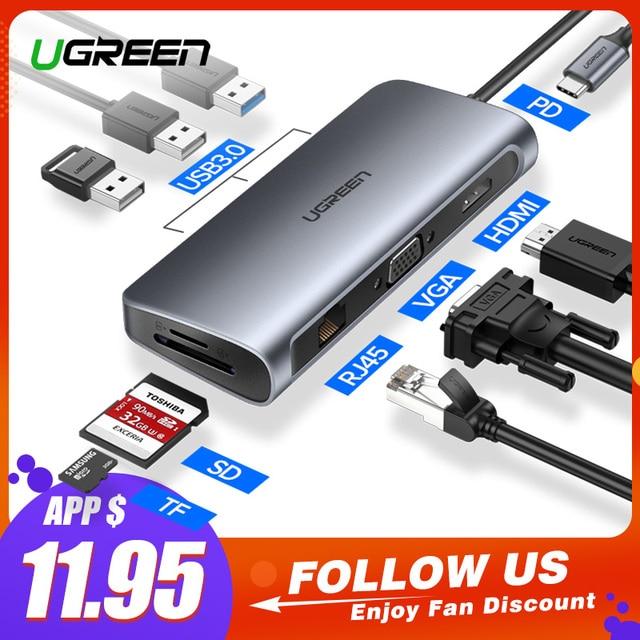 Ugreen HUB USB C HUB Đa Năng USB 3.0 HDMI Adapter cho Macbook Pro Phụ Kiện USB-C Loại C 3.1 bộ chia 3 Cổng HUB USB C