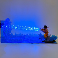 Dragon Ball Lamparas Son Goku Kamehameha Scene LED Night Light Dragon Ball Z Action Figure Goku Toys for Children