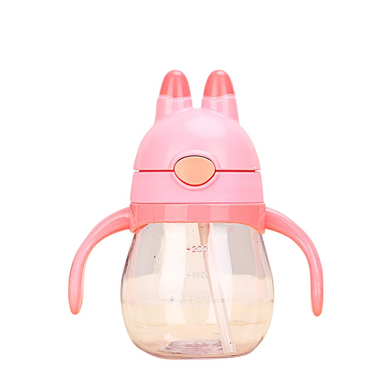 200ml Lovely Rabbit Newborn Baby Bottles Infant Baby Children Learn to Drink Cups Training to drink Cup Bottle 2017 New