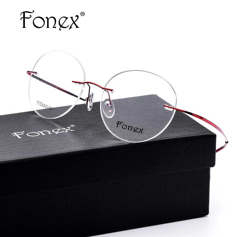 Rimless Glasses No Screws : Aliexpress.com : Buy FONEX No Screw Female Oval Rimless ...