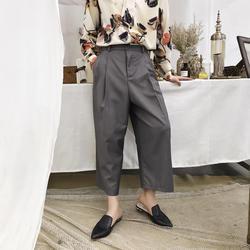 Мужские Ретро Модные свободные повседневные брюки Широкие брюки мужские модные шоу в японском стиле хип-хоп шаровары прямые кимоно брюки