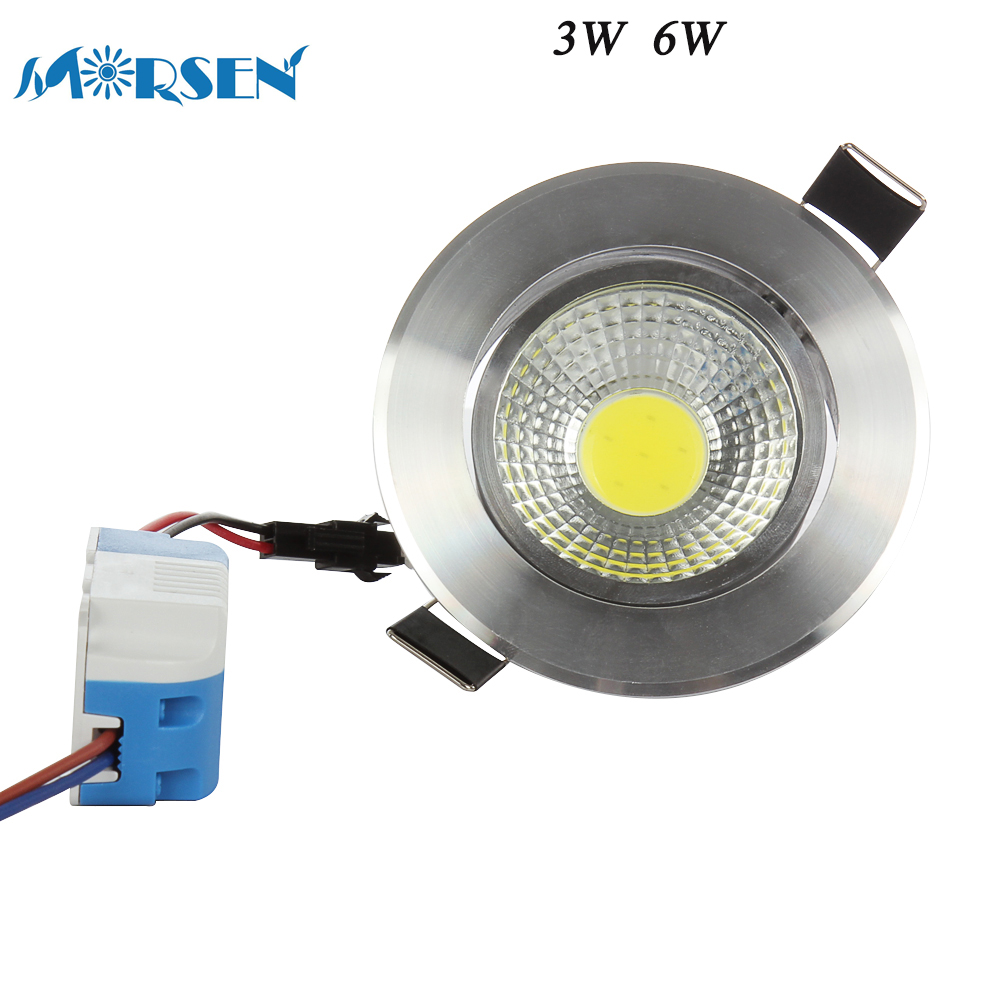 MORSEN 10pcs Brightness 3W 6W COB LED Ceiling Downlight