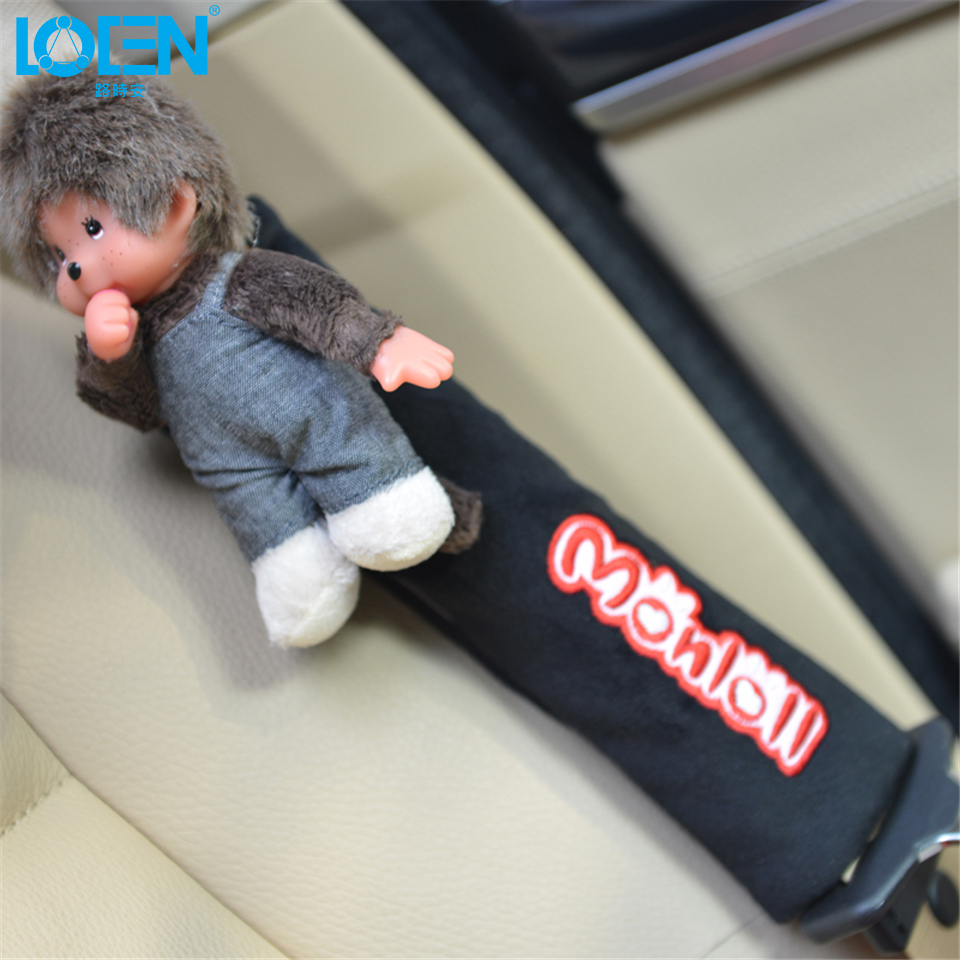 2pcs Cute Cartoon Car Seat Belts & Padding Cover Car Supplies Automotive Interior Accessories Adjuster Pad On The Strap Monlill