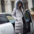 BOSIDENG 2016 nueva chaqueta larga Caliente mujeres pato abajo abrigo de Invierno de Alta Calidad Mujeres Cuello de piel gruesa con capucha B1501160