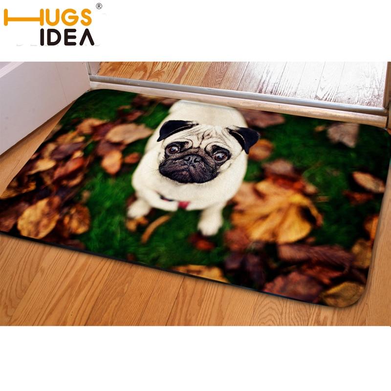 HUGSIDEA 3D Leuke Hond Entree Deurmat Antislip Zachte Flanner Keuken - Thuis textiel