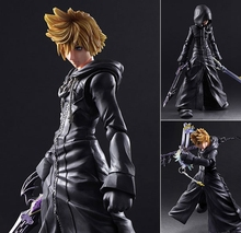 Play Arts Kingdom Hearts Figure Sora ROXAS Figure PA Play Arts Kai Kingdom Heart 27cm PVC Action Figure Doll Toys