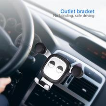 Car Phone Holder Triangle Design Air Outlet Gravity Car Smartphone GPS Mount Bracket Mobile Cell Phone Holder for iphone цена